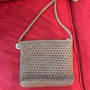 The Sak khaki knitted crossbody bag